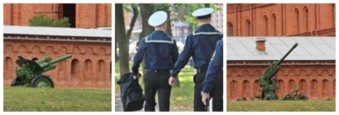 Saint-Pétersbourg ville de pouvoir. Officiers de la marine russe