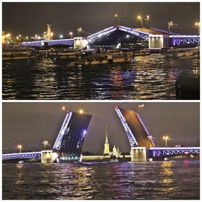 Saint-Pétersbourg ville de pouvoir. La nuit sur la Neva
