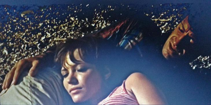 « Pierrot le Fou », film de Jean-Luc Godard (1965) Anna Karnia et Jean Paul Belmondo dans leur cavale