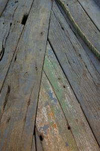Wood detail of the boat