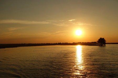 Sunset above Chobe river