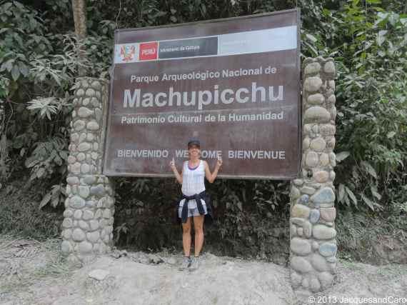 We were at Machupicchu