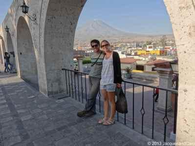 View onto El Misti from the Grau Bridge