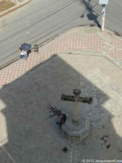 View from the top of La Merced church