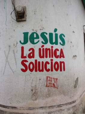 Not sure what is going on with Jesus, but it looks like that for these Maya descendants, it is the only solution.