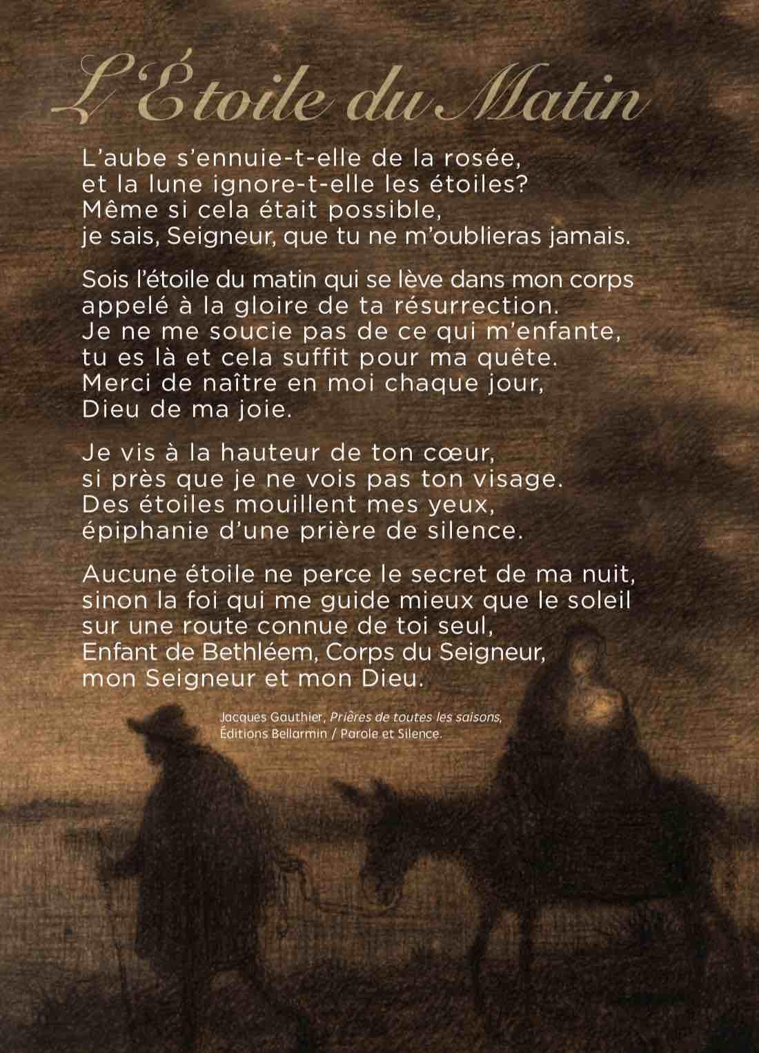 Prière Du Matin Radio Notre Dame : prière, matin, radio, notre, L'étoile, Matin, Blogue, Jacques, Gauthier