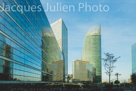 Bâtiments modernes dans le quartier d'affaires