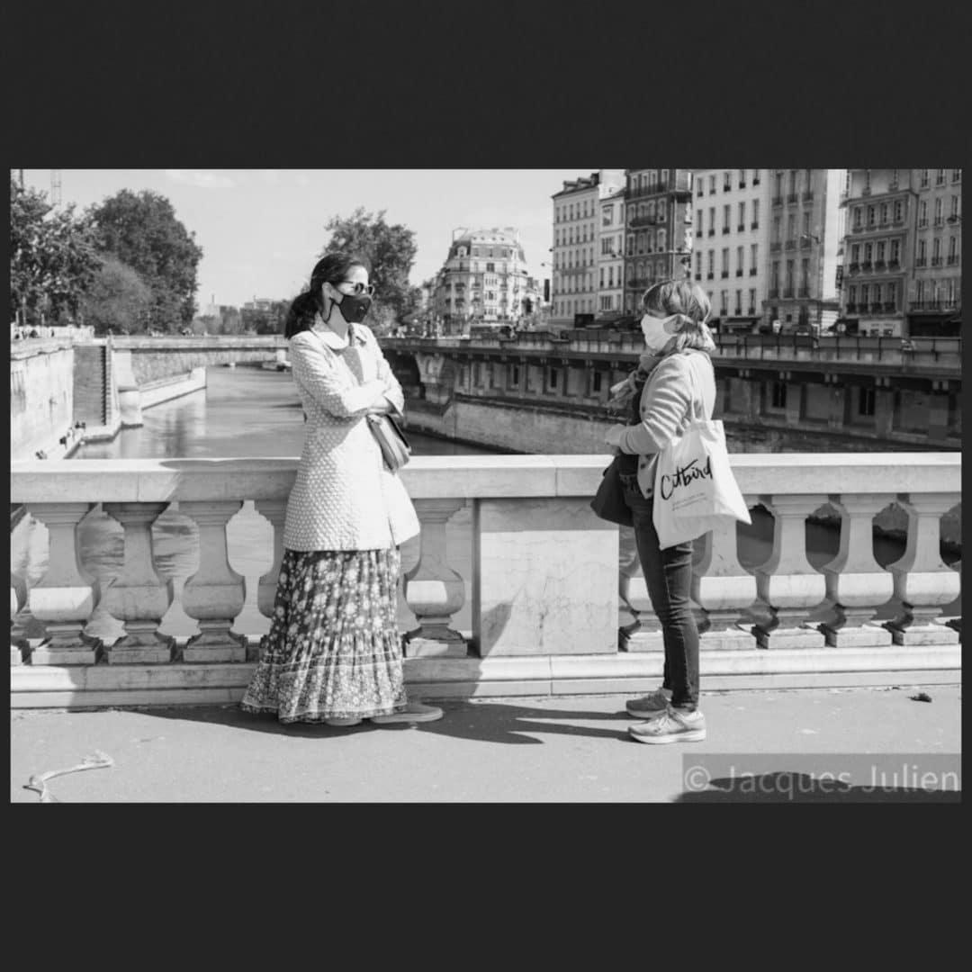 image vintage de pont Paris