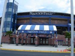 L'entrée du stade des Mets à St. Lucie, là où évoluent Jonathan Malo et Emmanuel Garcia.