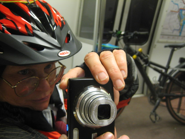 Alison & bike on Metro