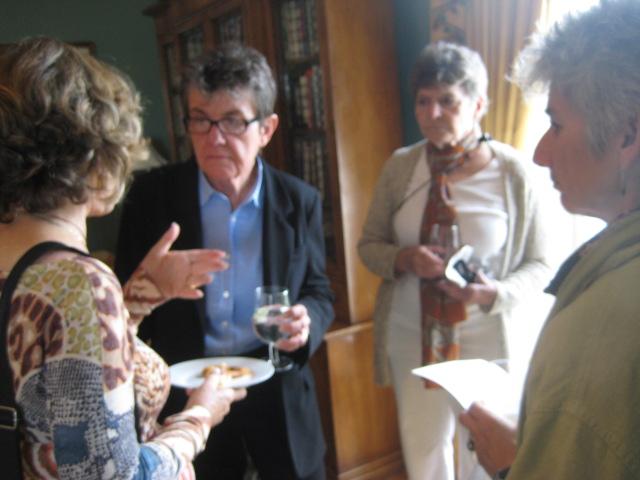 Kay, Barbara, Jean in Poetry Room