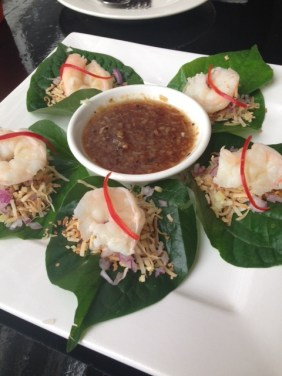 Betel Leaf with Prawns