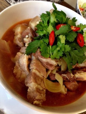 Pork spareribs braised in coconut - The Songs of Sapa