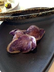 Salt and vinegar potato. Burnt pretzel, treacle, pork - snacks from Brae