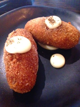 Bechamel Croquettes with pedro ximenez and mushroom