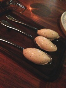 Wattleseed ice cream with woodear mushroom