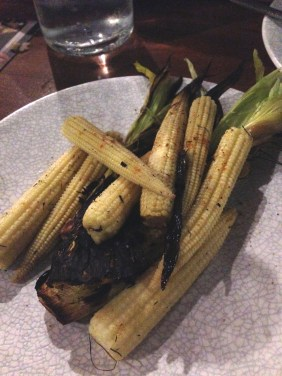 Chargrilled Baby Corn with sesame butter