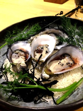 Oysters with ants