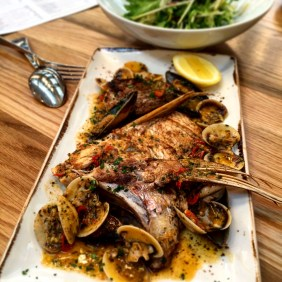 Kangaroo Island Snapper with cockles and mussels