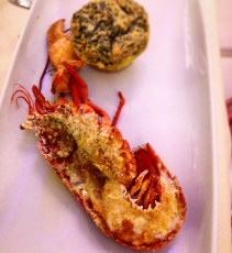 lobster with spinach souffle