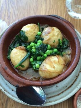 Potatoes, peas and kale