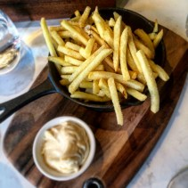 Parmesan truffle fries, herb and truffle aioli