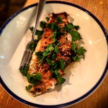 Coal roasted fish with citrus and native pepper