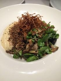 Forest mushrooms, truffled custard, organic spelt and rye crumbs