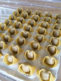 The chefs were making more fresh mushroom Agnolotti