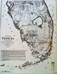 1850s map of Florida