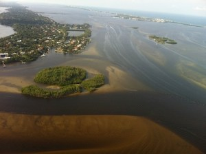 Town of Sewall's Point, Martin County Florida, 9-13 surrounded by polluted waters released from Lake Okeechobee