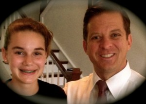 14 year old Natalie and new Lt Governor, Carlos Lopez-Cantera