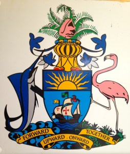Coat of Arms, Andros, Bahamas, 2014 as seen at Andros Airport. (Photo by Jacqui Thurlow-Lippisch)
