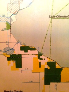 Map showing option lands close to Clewiston.