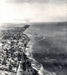 Area along Indian River Lagoon in Jensen 1945 where Ocean Breeze Park is today. (Historic aerial courtesy of Sandra Henderson Thurlow.)