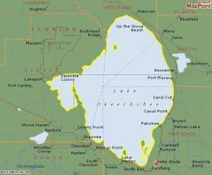 Lake O. 730 square miles and was once 1000 square miles....