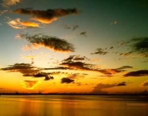 Sunset , Indian River Lagoon. (Photo Jacqui Thurlow Lippisch, 2014.)