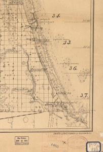 Portion of 1885 Francis LaBaron Map of IRL/SLR. Courtesy of Todd Thurlow and Sandra Thurlow correspondence, 2015.)