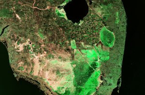 """Earth From Space"" Lake Okeechobee, agriculture, cities and the Florida Everglades. (2014)"