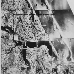 1940 aerial photo from the US Dept of Agriculture Flight over Martin County, Fl 1940. Here Stuart, Sewall's Point, Hutchinson Island and Jensen are easily recognized by air. (Photo courtesy of UF Smathers' Library collation.)
