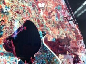 satellite photo of Lake O, NOAA.