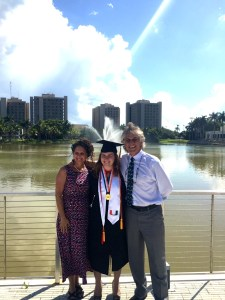 Darcie, Ed's niece, graduated from University of Miami last Friday.