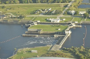 St Lucie Locks and Dam the day the locks opened 1-16-15. Photo Scott Kuhns.