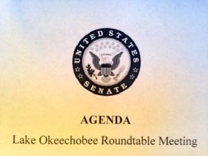 Agenda, L.O. Roundtable, Office Senator Marco Rubio, 2015