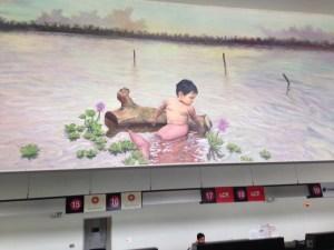Half baby half dolphin. Mural Lima, 2015.
