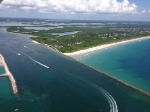 Ft Pierce Inlet takes water from C-25 not shown on the above chart. This water exits directly into the IRL at Taylor Creek and Marina. 8-23-15. (Ed Lippisch)