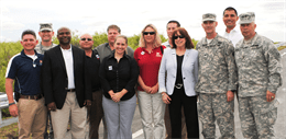 Kim Taplin is in the red shirt . Kim worked with stockholders in CEPP's review here in South Florida. (ACOE website)