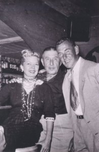 Francis Langford, Seymour Giddeon, and an unidentified man at Seymour's Inn, ca 1940s. (Photo archives Sandra Thurlow)