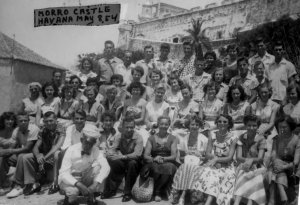 Stuart High School senior trip 1954. My father, Tom Thurlow, is standing in the back row far right.