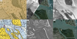 Attached is a multi-image of the area in the 1887 NOAA map, the 1925 shot (partially), 1940, a 1958 NOAA map, 1970 and today.